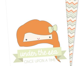 Once Upon stationery - Ariel - cards printed on recycled paper