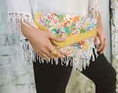 Women's Clutch - Envelope Clutch - Foldover Clutch - Splatter Bag - Painted Bag - Art Bag - Ladies Handbags - Canvas Bag - Colorful Purse