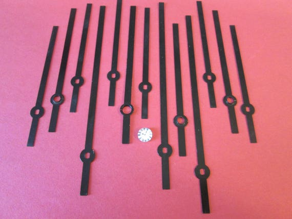 12 Assorted Vintage Straight Steel Clock Hands for your Clock Projects  - Jewelry Making - Steampunk Art