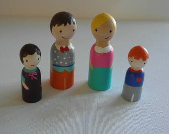 Peg Family of 4 - Can be customized