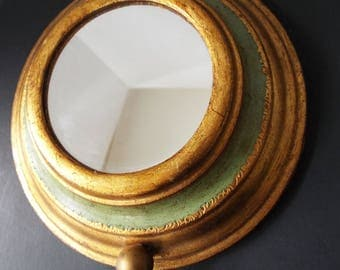 Reuge music box pull string mirror Florentine round wall mirror Raindrops keep falling on my head