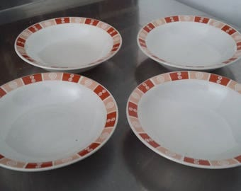 4 Vintage Retro Pudding Soup Bowls Trade Winds Tableware
