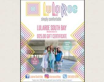 Lularoe Lulacash Gift Certificate (Full page with option to change size) DIGITAL FILE