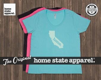 California Home. T-shirt- Women's Curvy Fit
