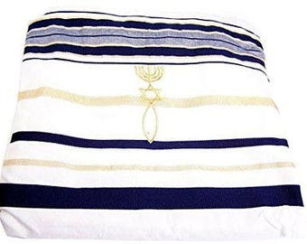 New Covenant Prayer Shawl, English / Hebrew & Bag 73 X 33 (Israel) Holy Land