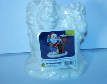 Wee Crafts Accents Unlimited Ready To Paint Figure #64118 Santa in Sleigh with Reindeer Made in USA