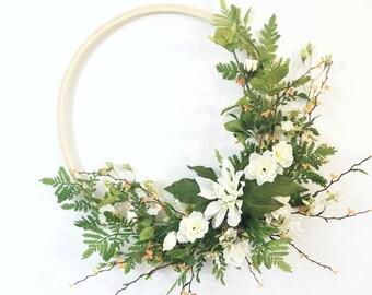 Wedding Wreaths for Front Door Embroidery Hoop Wreath Everyday Wreath Front Door Wreaths Spring Year Round Wreaths for Front Door
