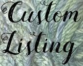 Hand dyed Chunky Yarn Indigo Weld Knitted Scarf