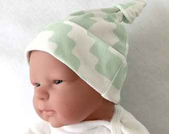 Organic baby hat, ecofriendly baby hat, newborn knot hat, infant hospital hat, Aztec baby knot hat, newborn hospital hat, organic infant hat