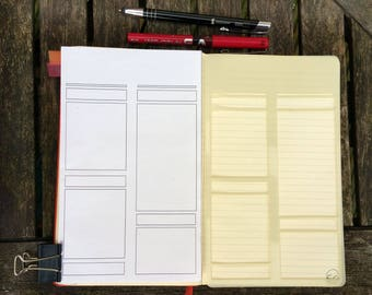 Bullet Journal Stencil. Planner Stencil, Bujo Stencil. Boxes Page Layout