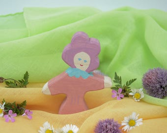 Flower Child Pansy, Nature Table, Wooden Toys, Wood, Deco