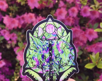 Bad Moon vinyl stickers