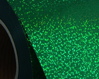 """Holographic Green 20"""" Heat Transfer Vinyl Film By The Yard"""