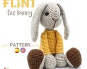 Patrón crochet Conejo - Amigurumi pdf tutorial - FLINT el conejo