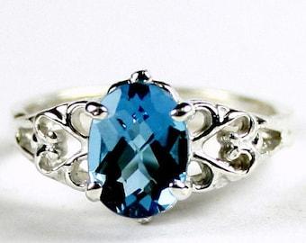 On Sale, 30% Off, London Blue Topaz , 925 Sterling Silver Ring, SR302