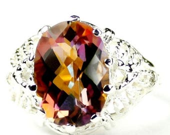 On Sale, 30% Off, Twilight Fire Topaz, 925 Sterling Silver Ring SR260