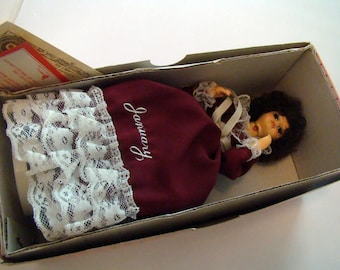 Brinns January Birthday Doll, January birthstone doll, Garnet birthstone, January doll, musical doll, birthday doll, Brinns musical doll