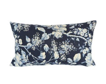 READY TO SHIP - 11 x 19 Ralph Lauren Brandy Floral designer pillow cover (sized for 12x20 or 12x21 insert)