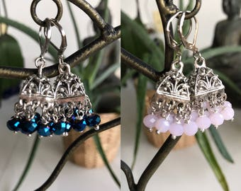 Boho Chic Earring, Gipsy Jewelry, Crystal Earring, Indian Style, Chic, Bohemian, Aros, Cristales, Wedding, Bridal, Casual