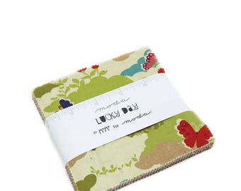 Lucky Day 5inch Charm Pack by MoMo for Moda Fabrics
