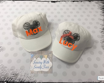 Personalized Mickey Mouse hat,Minnie Mouse hat,Mickeys Not So Scary Halloween, Disney, Halloween Mickey Hat, Halloween Minnie Hat,Disney Hat
