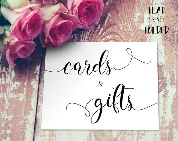 Cards and Gifts Sign INSTANT DOWNLOAD