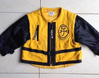 "Vintage CASTELBAJAC ""BREMEN MUSICIANS"" kids vest + jacket size 95"