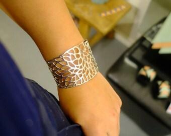 """""""Chloe tree"""" Sterling Silver Cuff Bracelet"""