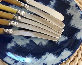 SET of (6) Antique Silver-Plate Canapé Knives