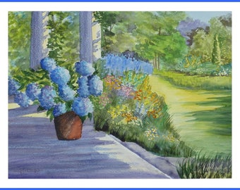 Watercolor - English garden