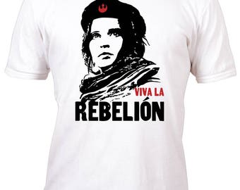 Rare Performance White Red Viva La Rebellion Rogue One Shirt All sizes up to Plus 5x