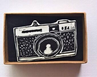 Camera No.2 (Black) Printed Badge