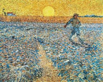 The Sower (Artist: Vincent Van Gogh) c. 1888 - Masterpiece Classic (Art Print - Multiple Sizes Available)