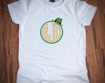 Leprechaun Monogram Shirt, saint Patricks day shirt girls, saint Patricks day shirt women, saint Patricks day shirt boys