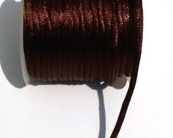 2 metres of cord in Brown silk