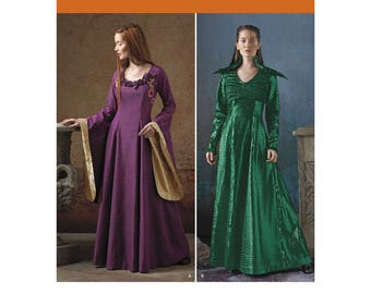 1137, Simplicity, Womens, Medieval, Renaissance Gown, European Maiden, LARP Cosplay, Reenactment, Game of Thrones, Ren Faire, Medieval Queen