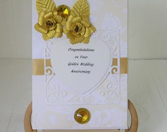 Golden Wedding Anniversary Card-personalized