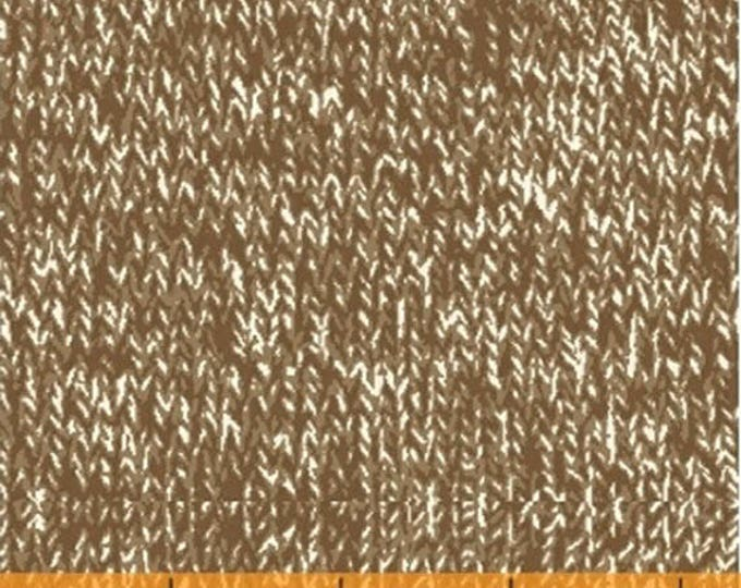 Sock Monkeys in Space - Marled Texture in Brown - Socks Look Cotton Quilt Fabric - by MY-KT for Windham Fabrics - 41172-X (W4141)