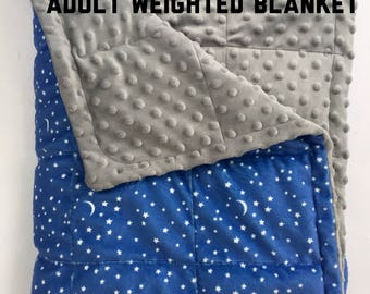 Full size starry nite weighted 55X72 blanket adult sensory anxiety