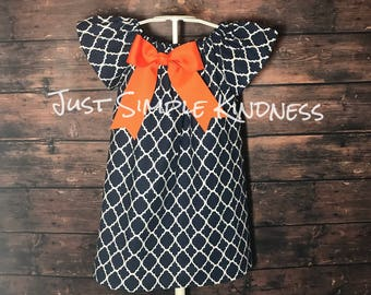 Girls Dresses, Girls Fall Dress, Girls' Clothing, Girls Easter Dress, Baby Easter Dress, Girls Summer Dress, Spring Dress, Girls Navy Dress