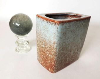 Mid Century Modern Vase S. Ballard Studio Art Pottery Vintage 1950's