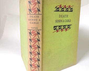 "Margaret Taylor Yates ""Death Sends A Cable"" Signed First Edition/ RARE"