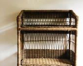 Boho Wicker Shelf