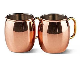Moscow Mule Smooth Copper Mug Gel Wax Candle