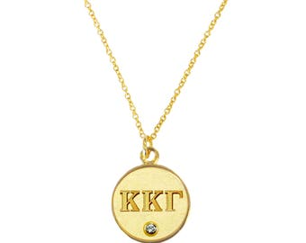 Gold Kappa Kappa Gamma Necklace