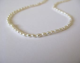Dainty seed Pearl necklace-tiny pearls necklace-minimalist pearl necklace-cultured pearls necklace