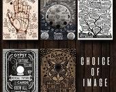 Postcard Prints - Palmistry, Moon, Elder Futhark, Black Cat, Gypsy Fortune Telling