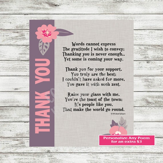 Thank You Poem | www.pixshark.com - Images Galleries With ...