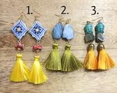 Earrings with Medium Tass...