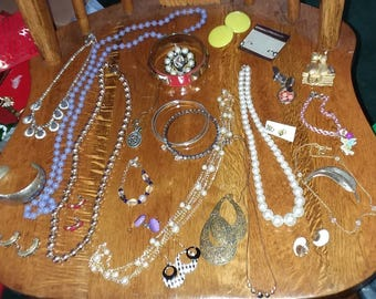 Vintage to new jewelry lot E all wearable